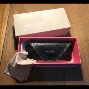 Kate Spade black eyeglass case and box.